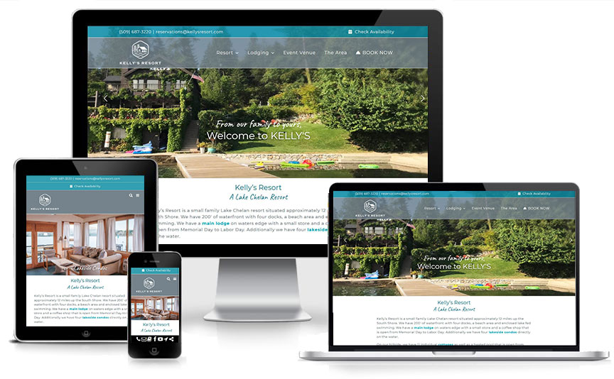 New Kelly's Resort responsive website design