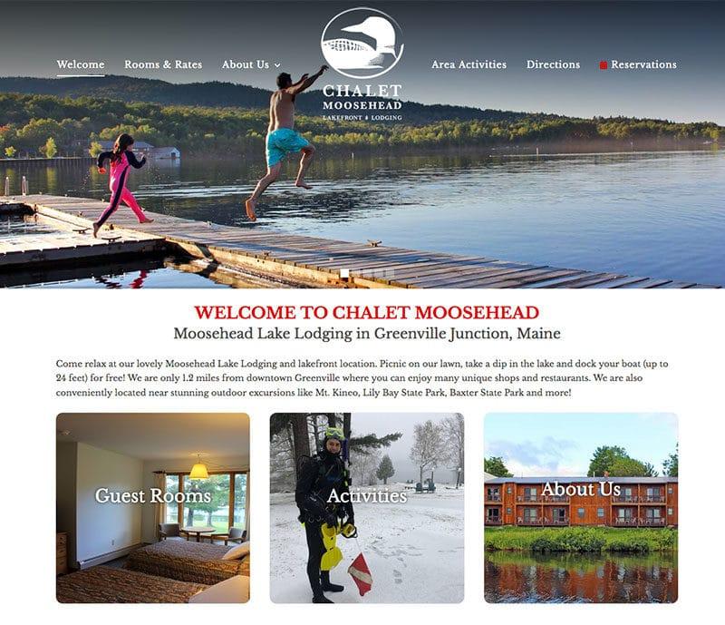 Chalet Moosehead Website