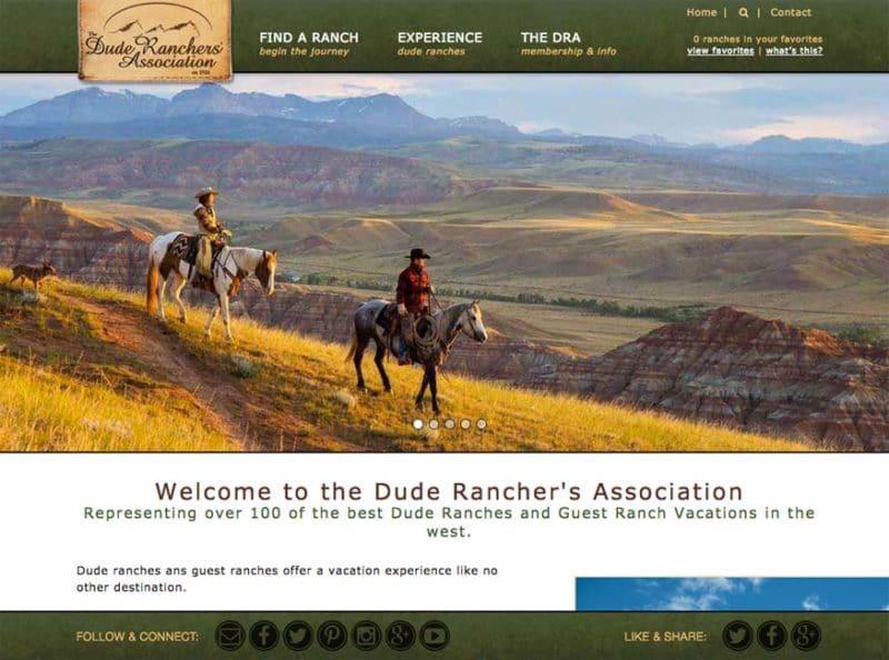 Dude Ranchers Association Website
