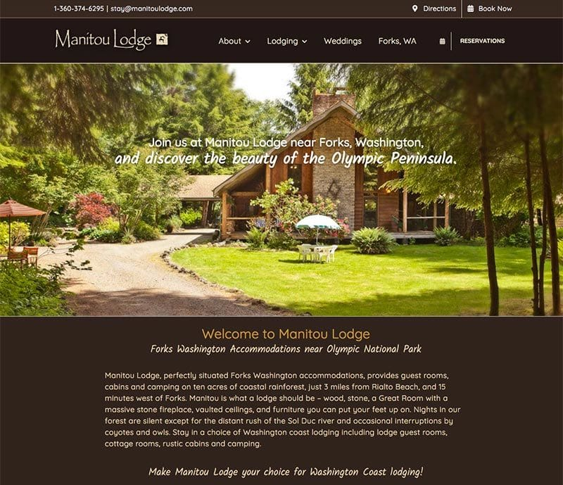 Manitou Lodge Website
