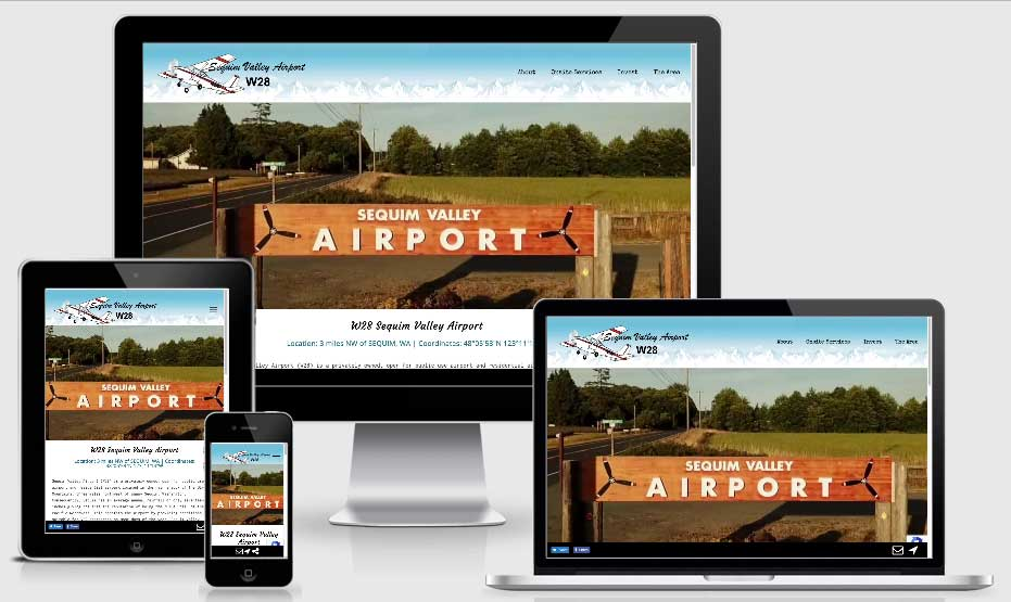 InsideOut Solutions new website design Sequim Valley Airport