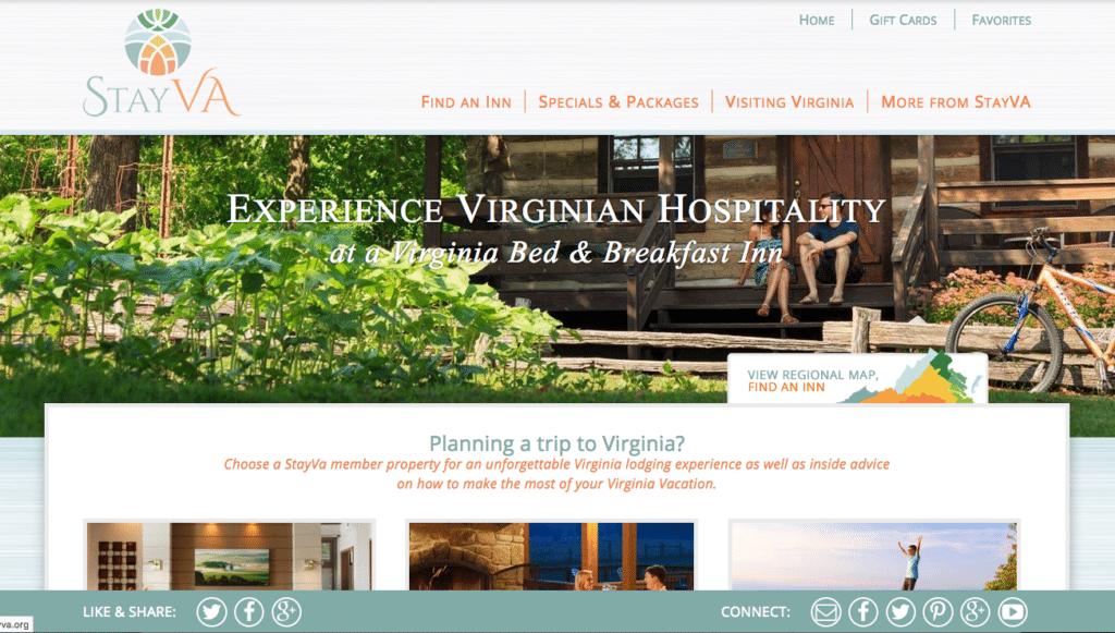 Virginia Bed & Breakfast Association Website