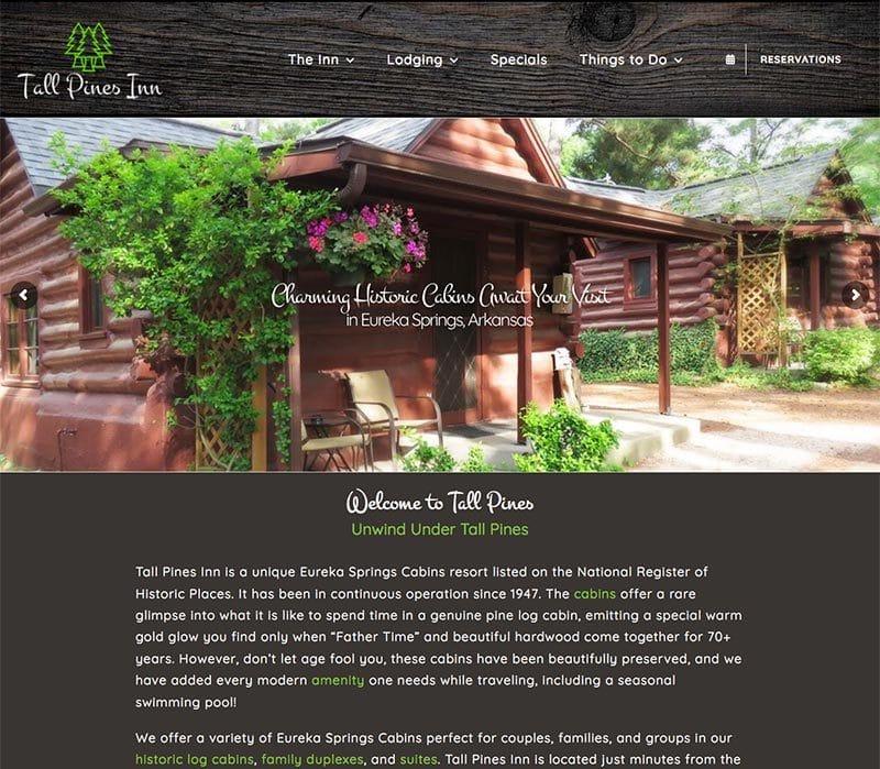 Tall Pines Inn Website