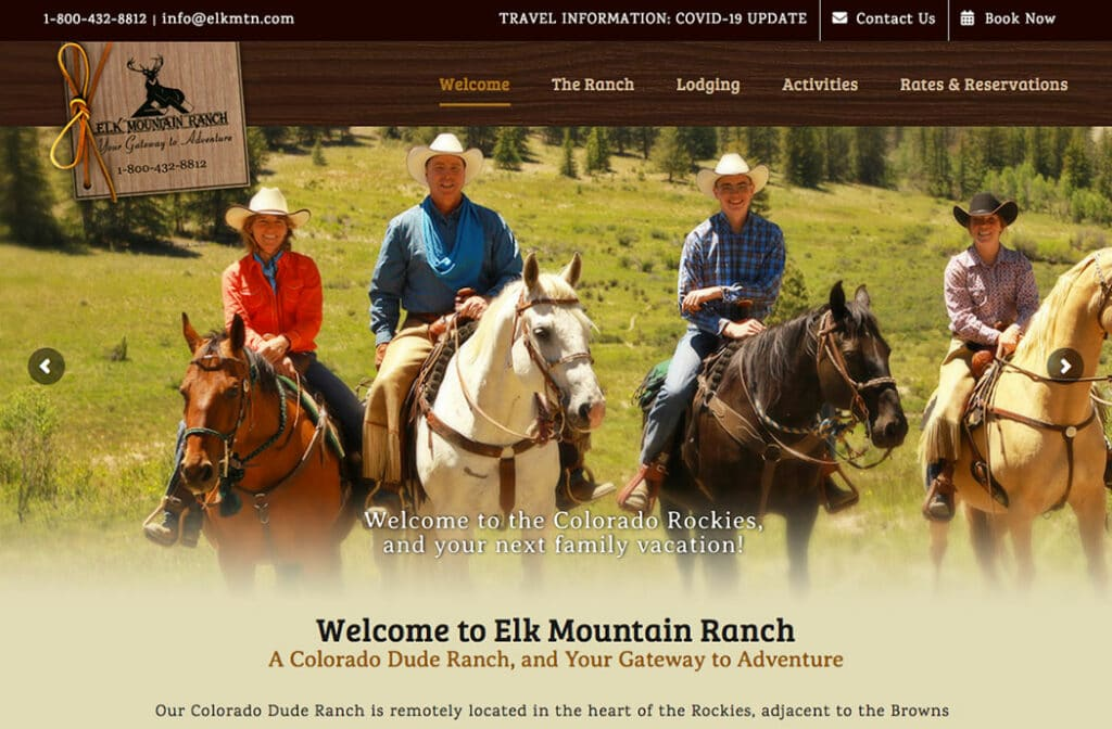 Elk Mountain Ranch Website