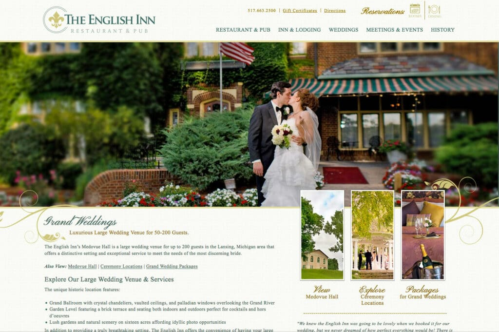 English Inn Weddings