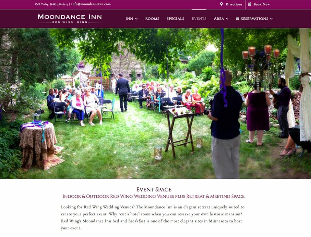 Moondance Inn Weddings