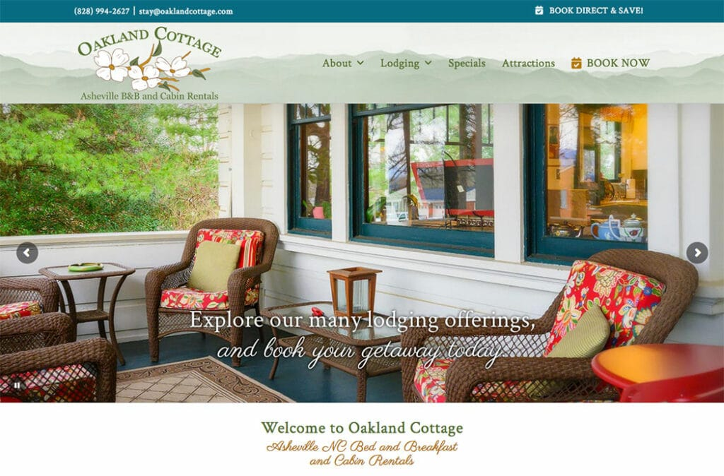 Oakland Cottage Website