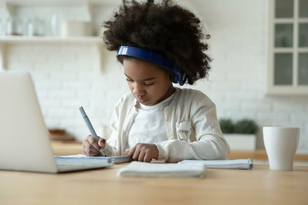 young child distance learning