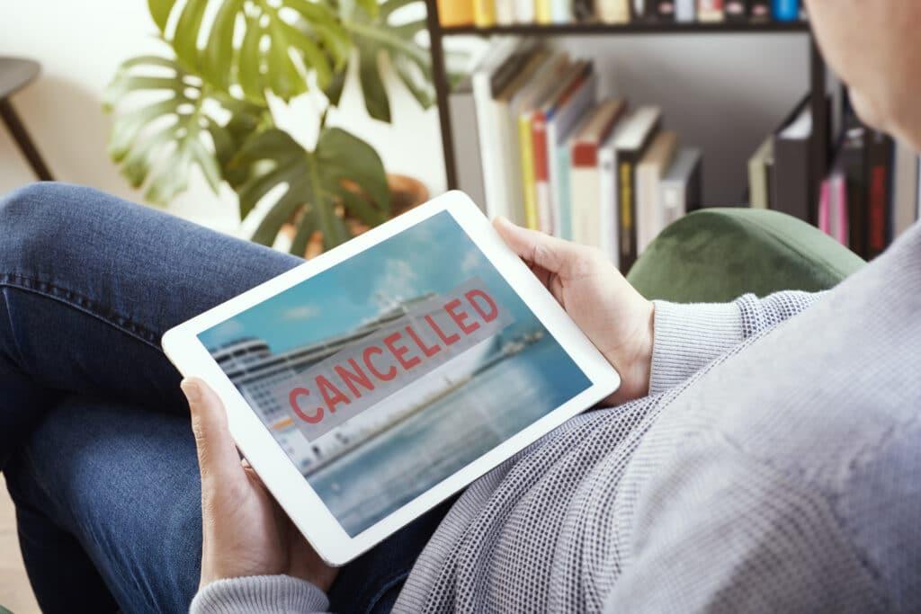 cancelled cruise on ipad