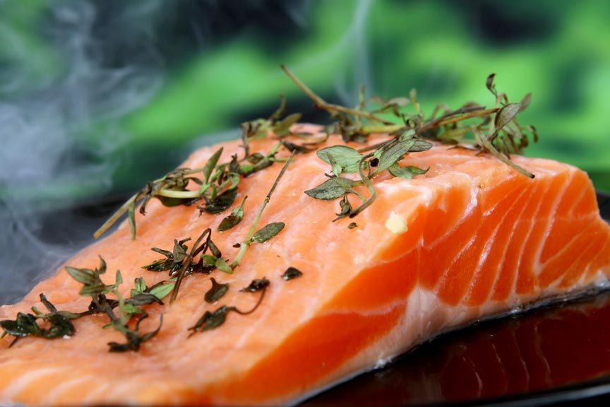 enjoy fresh, local salmon -   along the Olympic Culinary Loop