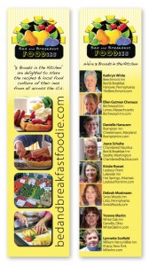 A bookmark is just the start for marketing the Bed and Breakfast Foodies.