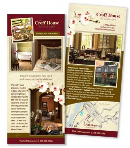 New rack card design for The Croff House in Hudson, NY.
