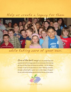 New brochure design for the Boys & Girls Clubs Foundation of the Olympic Peninsula puts the focus on helping children.