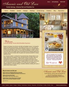 New web site for Arsenic & Old Lace B&B Eureka Springs AR