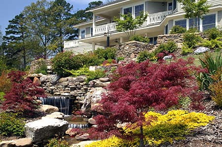 Lookout Point Inn's Gardens and Waterfalls