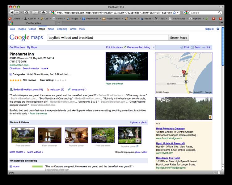 Pinehurst Inn Google Places
