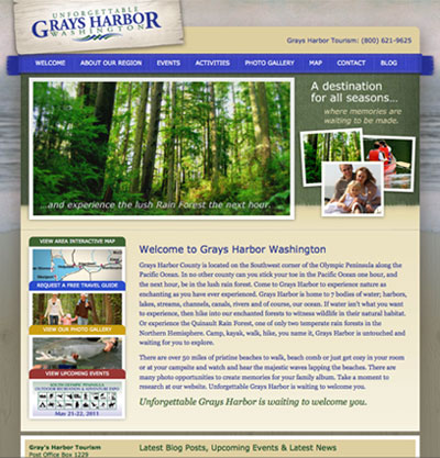 New Website for Grays Harbor Tourism
