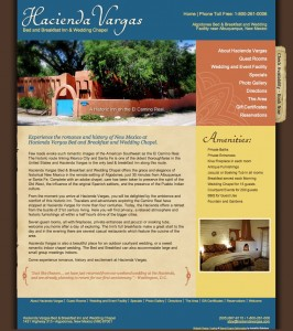 New site design for Hacienda Vargas in Santa Fe NM