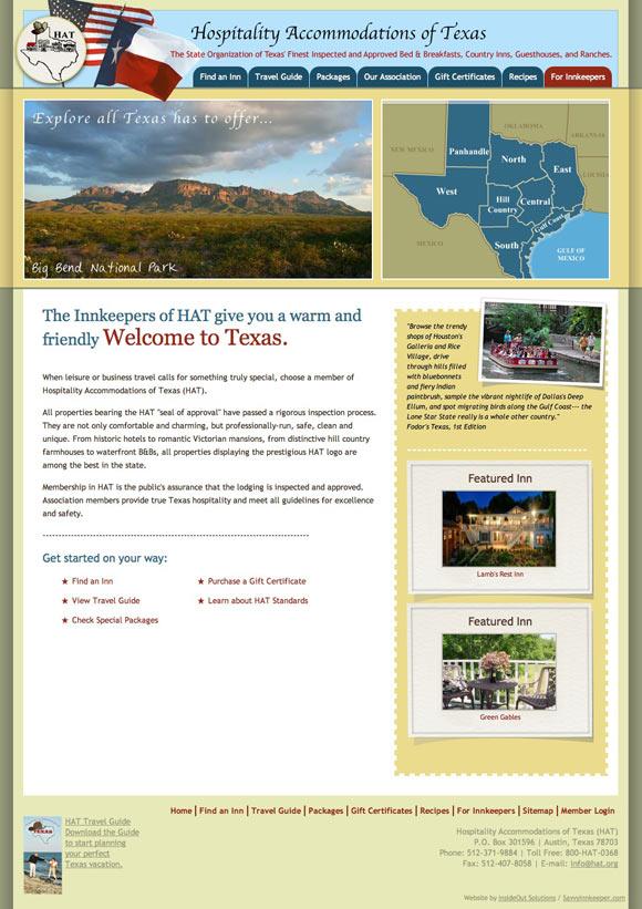 The New Hospitality Accomidation of Texas website!