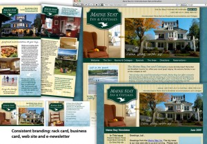 Some prospective guests prefer going online while others are looking for printed materials. Maine Stay has the complete set to suit both groups.