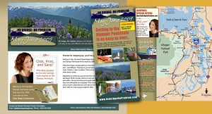 Online promotion and print marketing for Olympic Peninsula, WA