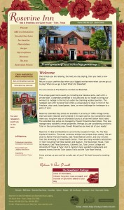 Our new design for Rosevine bed and breakfast
